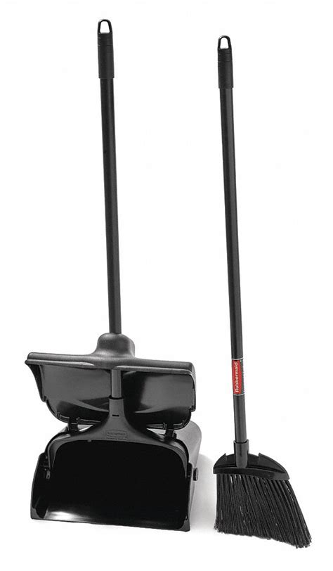 """RUBBERMAID Lobby Broom and Dust Pan, 35"""" Overall Length"""