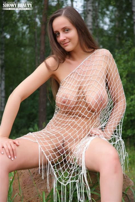 All Natural Busty Russian Girl Naked In The Woods