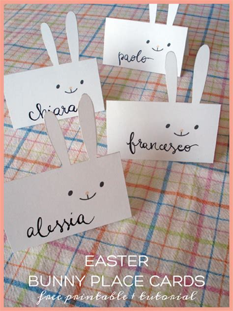 easter place card template easter mini kit bunny place cards free printable