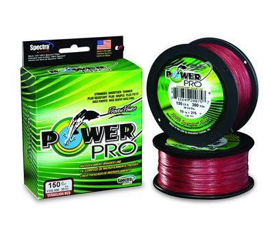 Senar Eagle Electric powerpro braided spectra fiber line vermilion