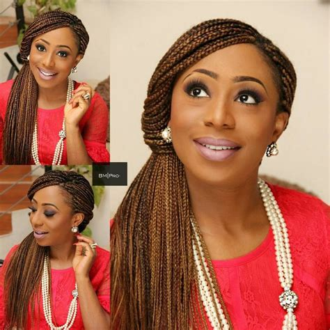 Wedding Hairstyles For Box Braids by Dakore Akande Dishes Trendy Unique Box Braids Updo