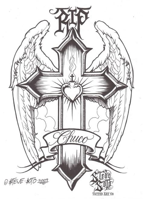 cross tattoo flash art 40 best images about chicano style on flash