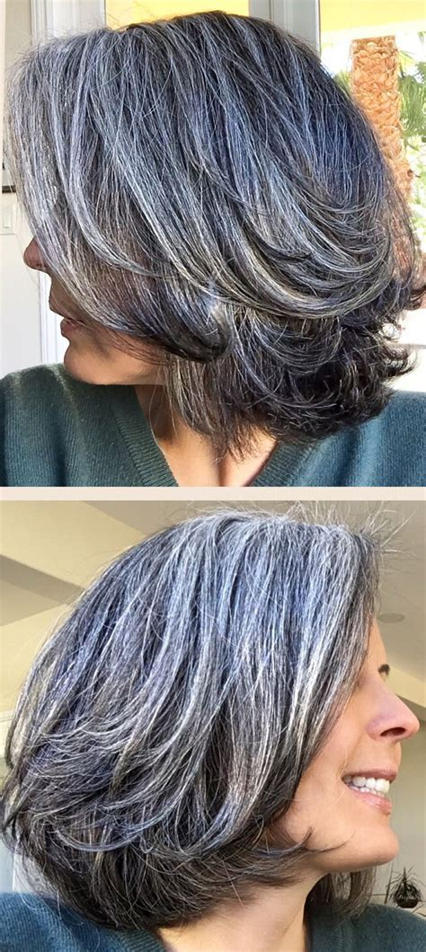 hair highlights for salt and pepper hair the 25 best neck length hairstyles ideas on pinterest