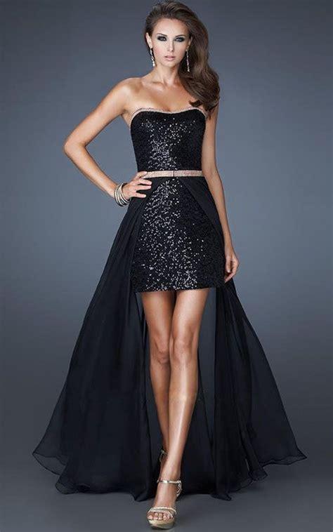 pattern dress short front long back short front long back black sparkly prom dress dresses