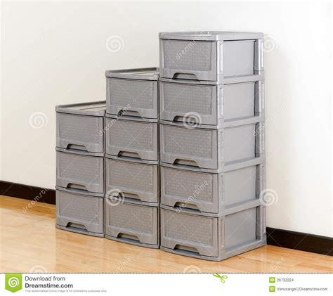 The Time Drawers by Stacks Of Plastic Drawers Stock Images Image 26732224