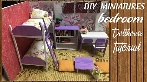 diy dollhouse miniature bedroom tutorial diy furniture