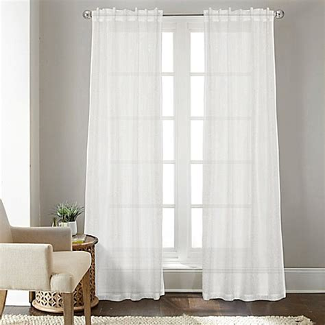 95 inch curtain rod buy talia 95 inch rod pocket back tab sheer window curtain