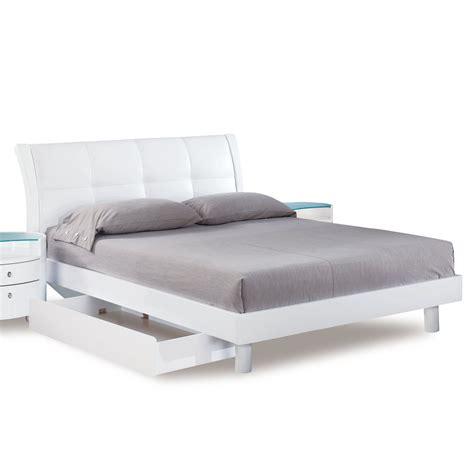 upholstered sleigh bed headboard global evelyn sleigh bed w upholstered headboard in white