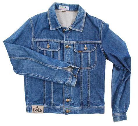 Original Lois Denim 5maaid vintage 1980s lois slim denim jean jacket xsmall xs ebay
