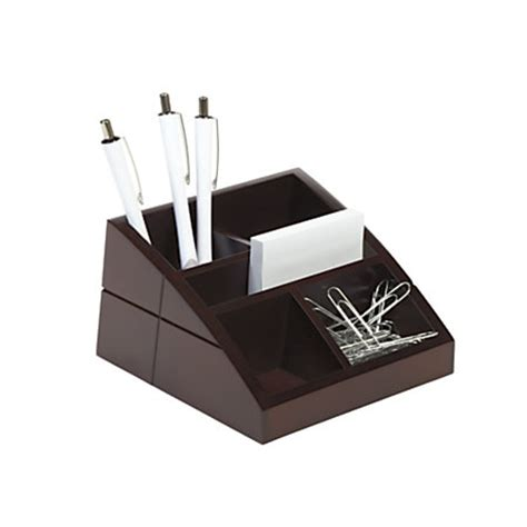 Office Depot Desk Organizers Realspace Wood Desk Organizer 4 X 6 58 X 3 516 Brown By Office Depot Officemax