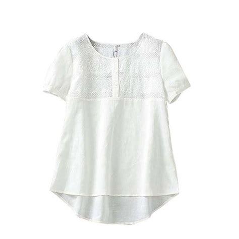 Linen Cotton Blouse womens cotton linen embroidery hollow out blouse