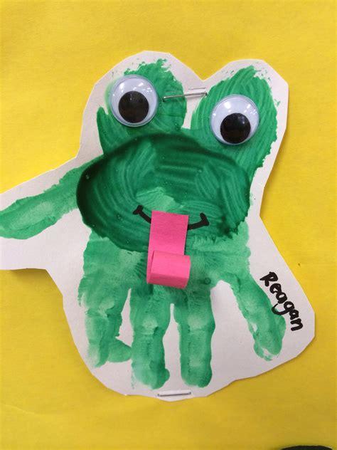 frog pattern for kindergarten frog handprint toddlers preschool daycare early
