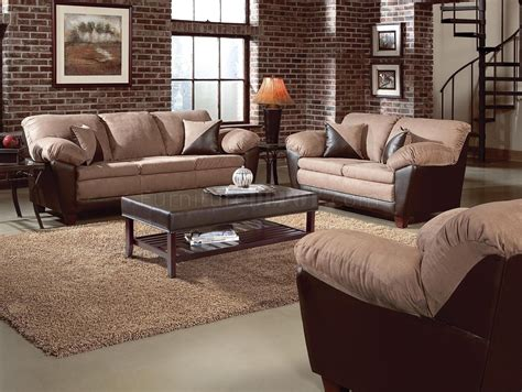 two tone living room two tone mocha transitional living room w pillow top seating