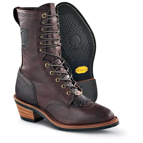 s chippewa boots s chippewa 174 bison packer boots briar 129148 cowboy