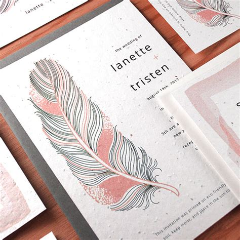 wedding invitation catalogs free feather plantable wedding invitation plantable wedding invitations catalog botanical