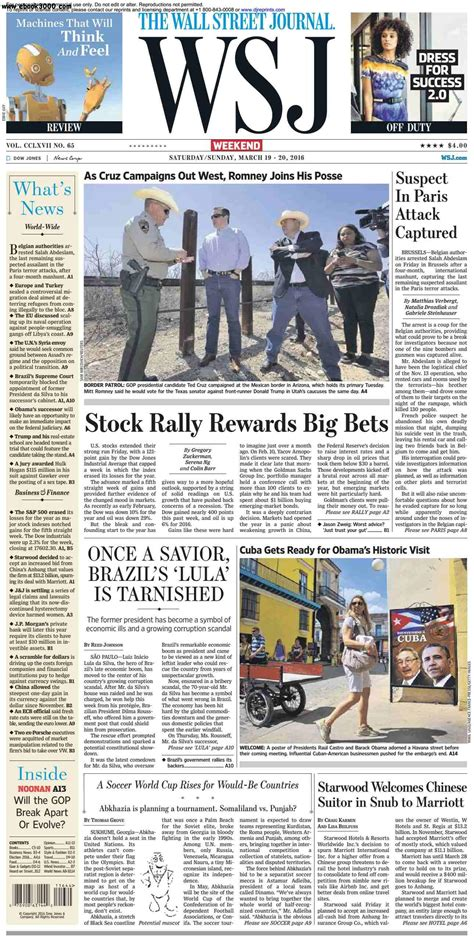 wsj mobile site the wall journal march 19 20 2016 free ebooks