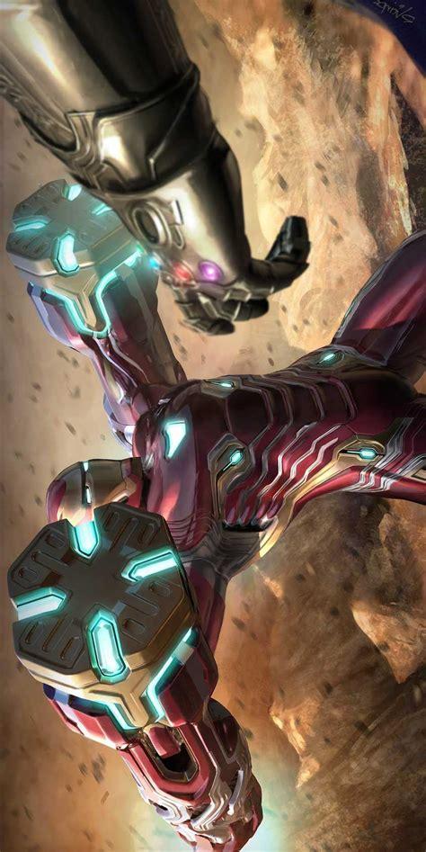 avengers endgame iron man thanos iphone wallpaper