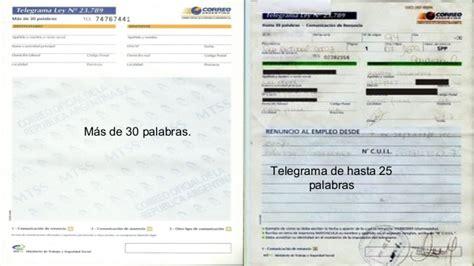telegrama de renuncia correo argentino taringa intercambio telegrafico despido