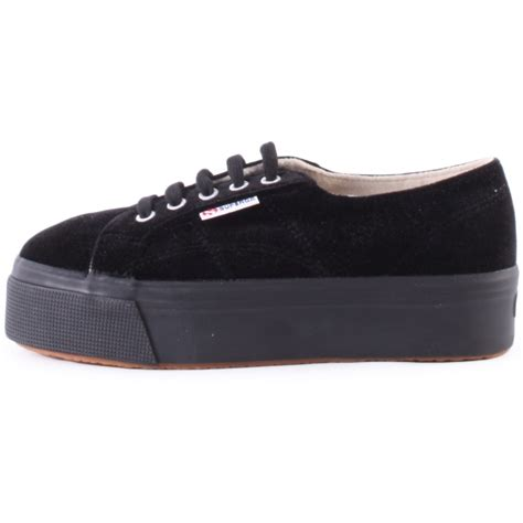 superga shoes superga 2790 velvet womens shoes in black