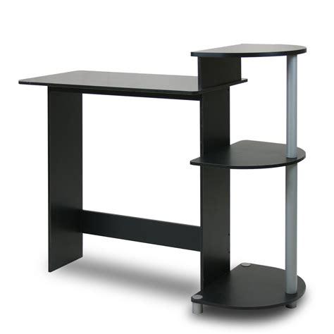 Furinno Compact Computer Desk Furinno 11181bk Gy 10015b Compact Computer Desk Black Grey Furniturendecor