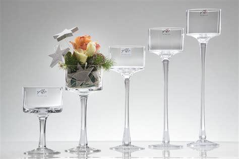 kerzenhalter glas hoch kerzenhalter mit stiel fu 223 dekodom ihr rich