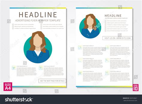 poster design report vector flyer poster leaflet annual report stock vector