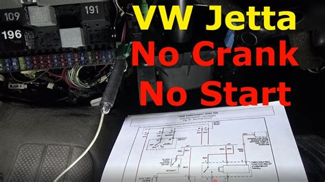 volkswagen jetta  crank  start troubleshoot repair