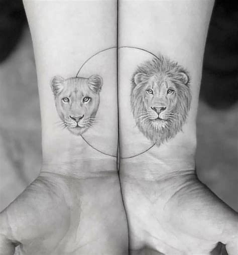 lion and lioness tattoo lioness tattoos