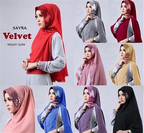 jual hijabjilbab velvet sequin syria  lapak toko