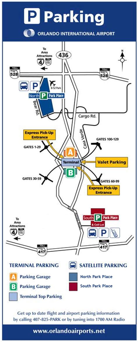 mco map orlando airport parking guide compare mco parking options