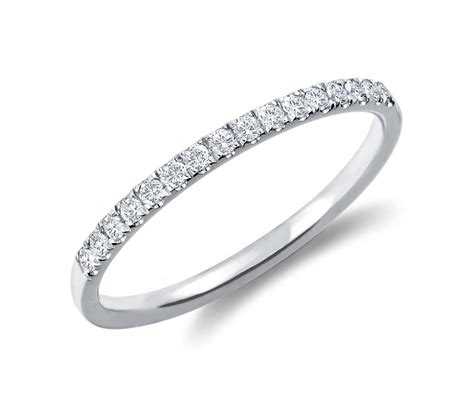 cathedral pav 233 ring in 14k white gold 1 6