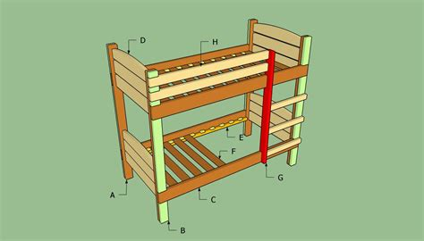 How To Make Bunk Bed 187 Plans To Build A Bunk Bed Ladderfreewoodplans