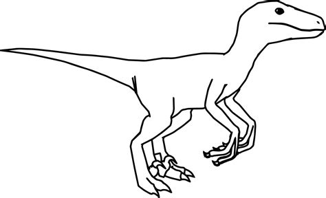 coloring pages of velociraptor raptor coloring page wecoloringpage