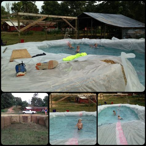 how to build a hay bale swimming pool build a swimming pool with straw bales