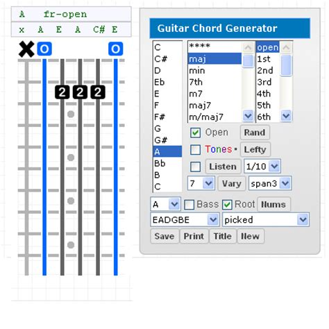 guitar chord diagram maker chord diagram creator gallery how to guide and refrence