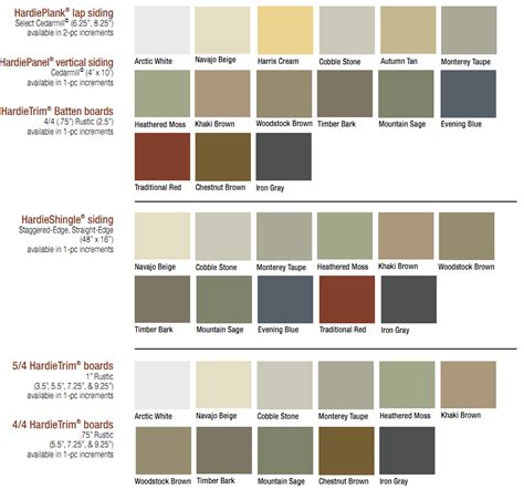 hardiplank siding colors hardiplank colors images