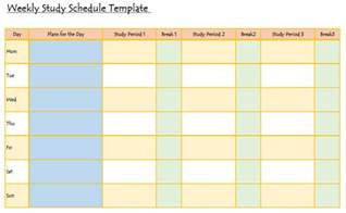 templates for studies study hack here s a handy weekly study schedule