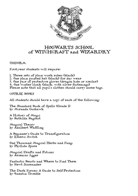 Harry Potter Acceptance Letter In Book harry potter hogwarts acceptance letter harry potter