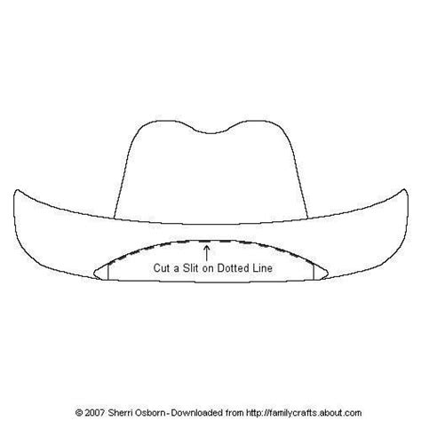 cowboy hat template paper doll accessories cowboy hats paper and free printable