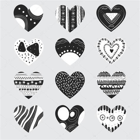 imagenes de corazones a blanco y negro corazones blanco y negro archivo im 225 genes vectoriales