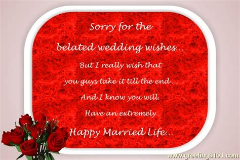 Wedding Congratulations Belated by Send Free Ecard Belated Wedding Wishes From