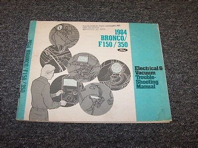 ford bronco   electrical wiring vacuum diagram manual   ebay