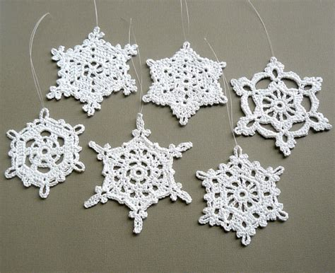 Handmade Ornament Patterns - idea crochet snowflake pattern crochet snowflakes