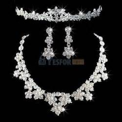 engagement jewelry sets bridal wedding prom jewelry set rhinestone necklace earrings tiara ebay