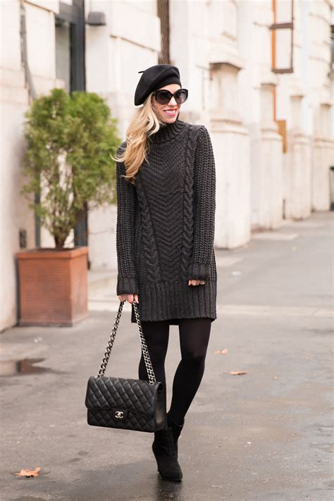 gorgeous ways to wear winter dresses and stay warm all