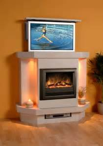 modern tv fireplace to conceal your tv home cinema equipment