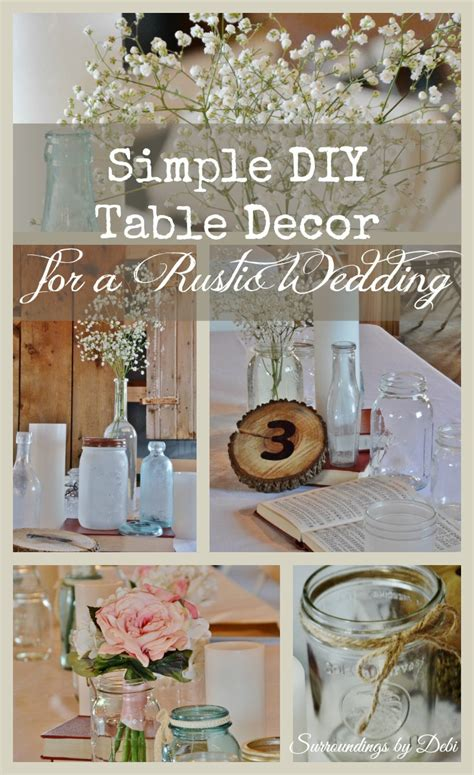 diy rustic wedding table decorations simple diy rustic wedding table decor