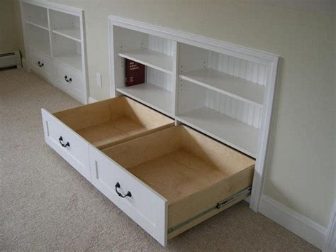 Diy Built In Drawers by How To Build A Knee Wall Storage Dresser Diy Projects