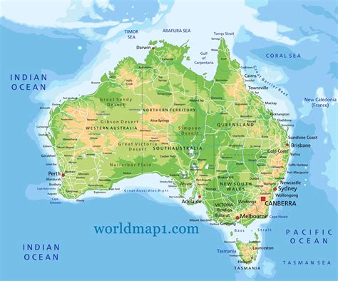 physical map of oceania map of oceania guide of the world
