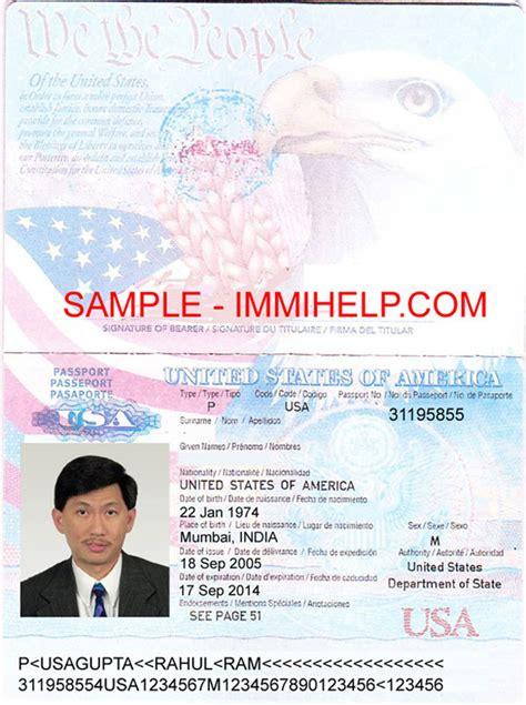 Sample american passport   USA passport, United States